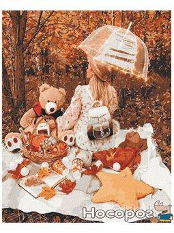 """Картина по номерам """"Осінній пікнік"""" Идейка (КНО4778)"""