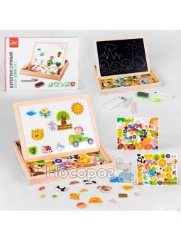Деревянная игра Fun Game 75039 Интерактивная доска 2в1