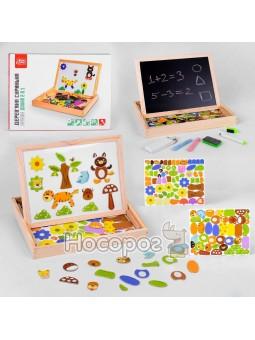Деревянная игра Fun Game 82146 Интерактивная доска 2в1
