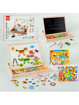 Деревянная игра Fun Game 99183 Интерактивная доска 2в1