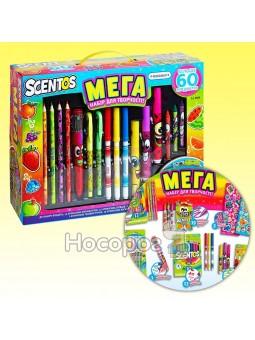 Ароматный набор для творчества МЕГАКРЕАТИВ фломастеры, карандаши, ручки, маркеры, наклейки 4515