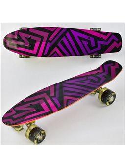 Скейт F 5490 (8) Best Board, доска55см, колёса PU, СВЕТЯТСЯ, d6см