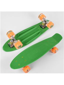 Скейт Пенни борд 1705 (8) Best Board, доска55см, колёса PU со светом, диаметр 6см
