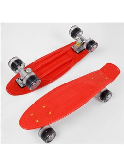Скейт Пенни борд 8181 (8) Best Board, КРАСНЫЙ, доска55см, колёса PU со светом, диаметр 6см