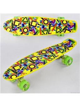 Скейт Р 11002 (8) Best Board, доска55см, колёса PU, СВЕТЯТСЯ, d6см
