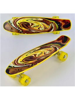 Скейт Р 13609 (8) Best Board, доска55см, колёса PU, СВЕТЯТСЯ, d6см