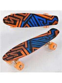 Скейт Р 13222 (8) Best Board, доска55см, колёса PU, СВЕТЯТСЯ, d6см