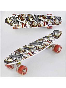 Скейт Р 14209 (8) Best Board, доска55см, колёса PU, СВЕТЯТСЯ, d6см