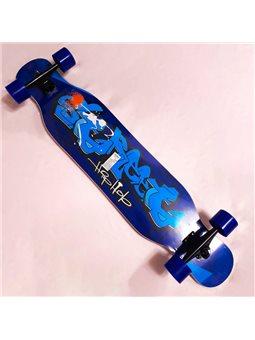 Скейт-лонгборд С 32022 (6) 6 видов, подшипник АВЕС-11, колёса PU, d7см