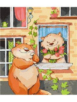 """Картина по номерам """"Тюльпаны для любимой"""" Идейка (КНО2365)"""