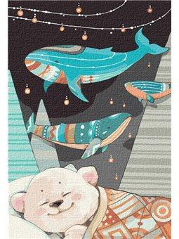 """Картина по номерам """"Сладкие сны мишки"""" Идейка (КНО2367)"""