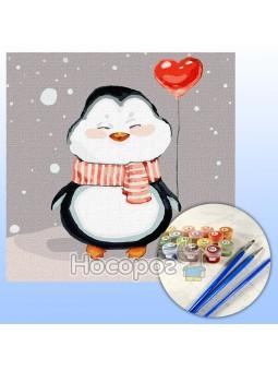 Набор для росписи по номерам Волшебная зима КНО2373