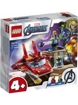 Конструктор LEGO Super Heroes Железный Человек против Таноса 103 детали 76170)