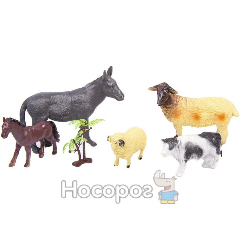 Фото Набор домашних животных 666 Е-25 (5 шт в кульке, 25,5*26,5*4см) (144)
