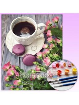 Картина по номерам Пирожное с кофе Y5580_O