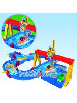 Игровой набор Аква Плей. Грузовой порт с мега краном и кораблем, 2 фигурки