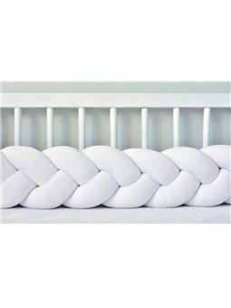 Бортик в кроватку Хатка Косичка Белый Мини 120 ( 300024-120 )