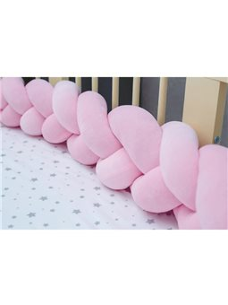Бортик в кроватку Хатка Косичка Нежно-Розовый 180 ( 300025-180 )