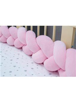 Бортик в кроватку Хатка Косичка Нежно-Розовый Мини 120 ( 300025-120 )