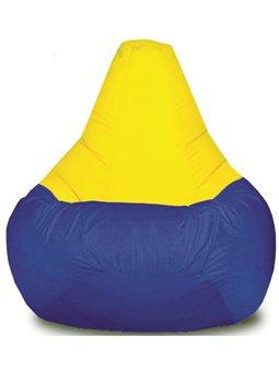 Кресло-мешок Груша Хатка Комби детская Синяя с Желтым ( 200026 )