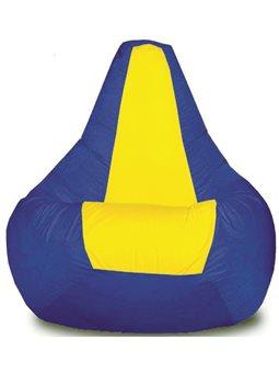 Кресло-мешок Груша Хатка средняя Синяя с Желтым ( 200060 )