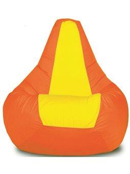 Кресло-мешок Груша Хатка Элит детская Оранжевая с Желтым ( 200053 )