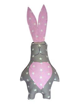 Подушка Хатка Заяц Принцесса Серый с розовым ( 700024 )