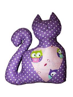 Подушка Хатка Кот Фиолетовый ( 700008 )