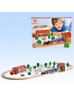 Игровой набор Eichhorn Железная дорога. Путешествие на ферму, длина 360 см 100001268