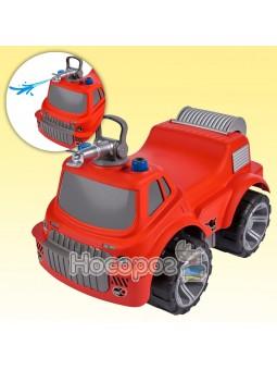 Машинка для катания малыша Пожарная красная, с водным эффектом 55815