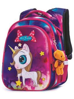 Ортопедический школьный рюкзак для девочки Единорог Winner One / SkyName R1-013