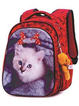 Ортопедический школьный рюкзак для девочки Котик Winner One / SkyName R1-014