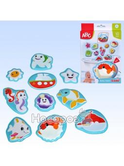 Игрушки-наклейки для ванной Морской мир 401 0196