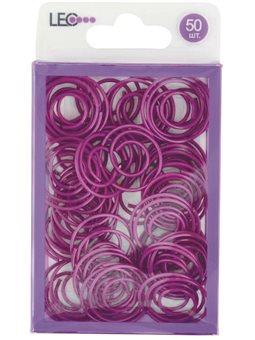 Скрепки круглые. фигурная. 50шт фиолетовый. L1920-12 140158