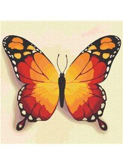 """Картины по номерам """"Оранжевая бабочка"""" Идейка (КНО4210)"""