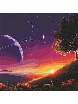 """Картины по номерам """"Путь в космос"""" Идейка (КН9545)"""