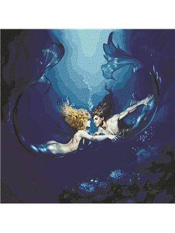 """Картины по номерам """"Подводная любовь"""" Идейка (КН9526)"""