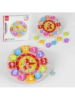 Деревянная игра Часы 34737 FUN GAME