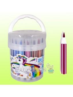 Фломастеры-кисточки 6877-24, 24 цвета
