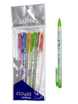 Ручка масляная SUPRA CLOUDS синяя (5/250/3000)