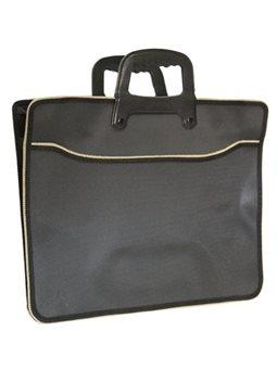 Портфель пластиковый, 30 * 27,5СМ, с ручками, 2 отд., Черный, 24830-8, Имп.210876