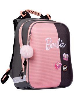 """Рюкзак школьный YES H-12 """"Barbie"""", серый / розовый 558784"""