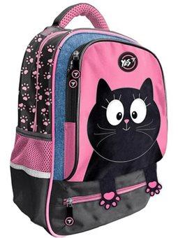 """Рюкзак школьный YES S-59 """"Meow"""", черный / розовый 554752"""