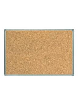Доска пробковая в алюминиевой рамке, сзади картонная основа 60 * 45см 3008
