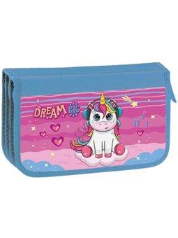 Пенал тройной картон KIDIS, серия Unicorn Dreams 14037