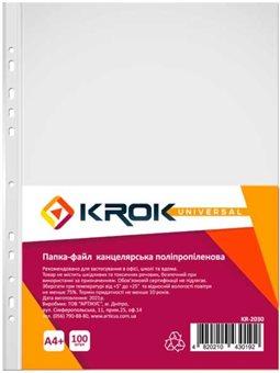 Файлы Krok KR-2030 А4 +, 30 мкм, намотки. с тиснением 100 шт 600812