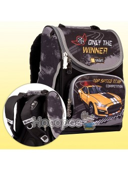 """Рюкзак шкільний каркасний SMART PG-11 """"Be winner!"""", чорний 557277"""