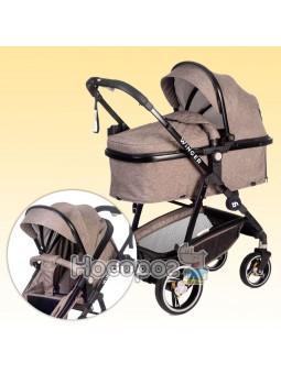 Универсальная детская коляска-трансформер 2 в 1 Winger Brown 73554