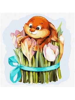 """Картина по номерам """"Тюльпановое счастье"""" Идейка (KHO4221)"""