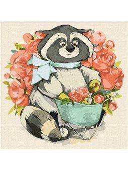 "Картина по номерам ""Маленький флорист"" Идейка (KHO4224)"